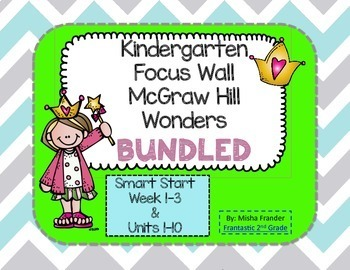 Bundled-Kindergarten Focus Wall McGraw Hill Wonders