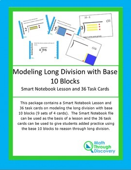 Modeling Long Division with Base 10 Blocks Bundle