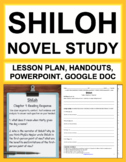 Shiloh Novel Study Bundled Lesson Plans & Student Packet