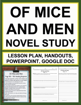 Of Mice and Men Novel Study Bundled Lesson Plans & Student Packet