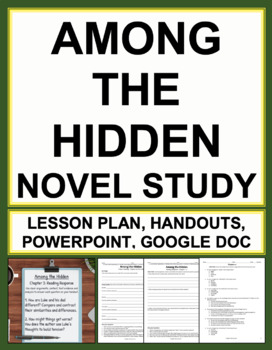 Among the Hidden Novel Study Bundled Lesson Plans & Studen
