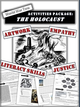 """Holocaust Bundle: 7 Activities, Book Report and """"In their Shoes"""" Project"""