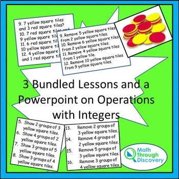 Middle School:  4 Bundled Lessons on Operations with Integers