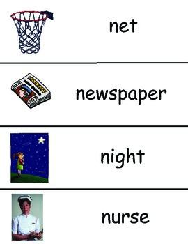 Letters N - Z Vocabulary Cards Bundled