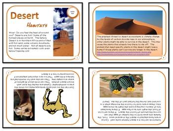 Bundled Minibooks and PDF Presentation Desert Habitats