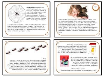 Bundled Minibooks and PDF Presentation Domestic Habitats