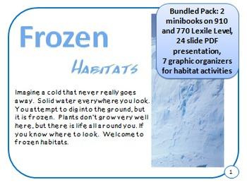 Bundled Minibooks and PDF Presentation Frozen Arctic and Tundra Habitats