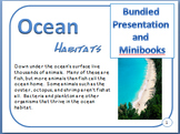 Bundled Minibooks and PDF Presentation Ocean Habitats