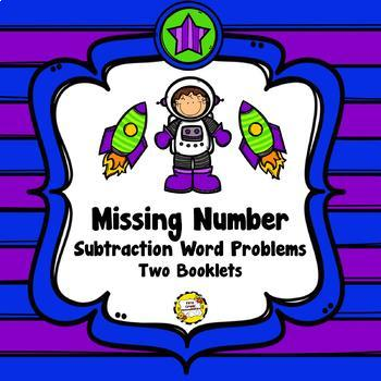 Bundled Missing Number Word Problems Booklets (Addition/Subtract/Mixed to 20)