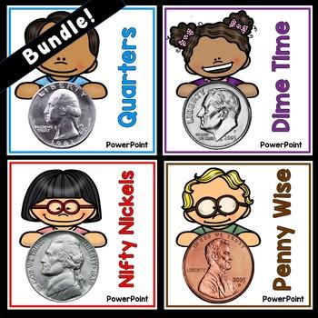 Bundled Money Powerpoints: Penny, Nickel, Dime, Quarter