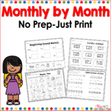 No Prep Just Print Bundled Month By Month