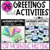 Bundled Morning Meeting Greeting and Activity Cards- Editable
