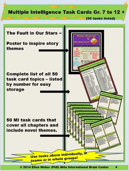 Bundled Novel Study Guide - The Fault in Our Stars - Quiz Included