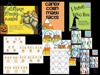 Bundled October Math Number Sense Activities