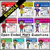 Bundled Open-Ended Math Questions for Journals or Do-Nows (First/Second Grade)
