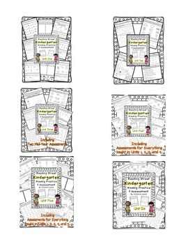 Bundled Pack  Reading Street Kindergarten Assessment and Review  Units 1-6