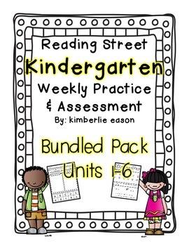 Bundled Pack  Reading Street Kindergarten Assessment and Review  Units 1-6