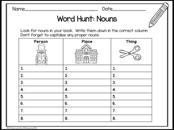 Parts of Speech Worksheets and Games