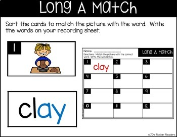 Literacy Center Activities (Word Work)