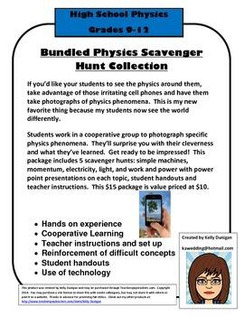 Bundled Physics Scavenger Hunts