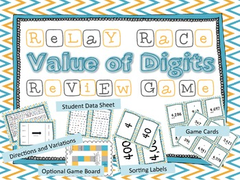 Bundled Place Value Relay Race Review Game