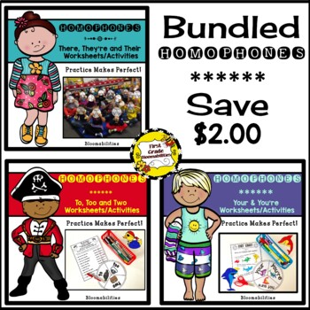 Bundled Practice Makes Perfect Language Arts (Homophones)