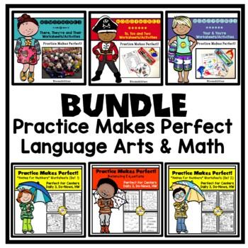 Bundled Practice Makes Perfect Math and Language Arts
