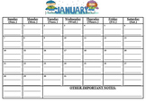 Bundled, 9 calendars WITH LINES!  (10/2017-6/2018) (Must p