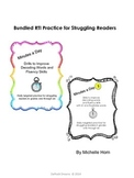 Bundled RTI-Minutes a Day Struggling Reader Practice