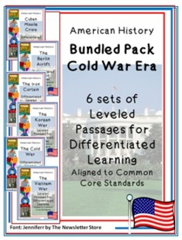 Bundled Rdg Passages for Differentiated Learning: Cold War Era Set of 6 Topics