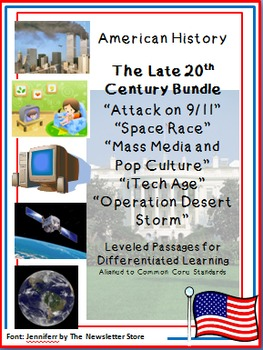 Bundled Rdg Passages for Differentiated Learning: Late 20th Century
