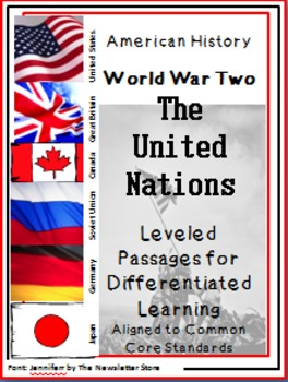 Leveled Reading Passages for Differentiated Learning: WWII The United Nations
