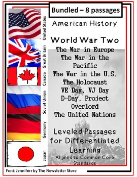 Bundled Rdg Passages for Differentiated Learning: World War Two