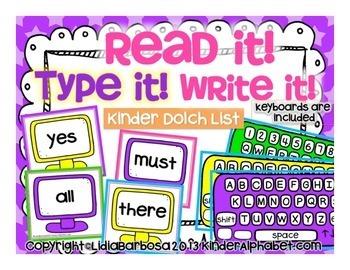 Bundled Read it! Type it! Write it!