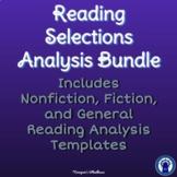 Bundled Reading Selections Analysis Templates