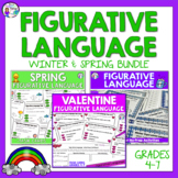 Three Bundled Seasonal Figurative Language Task Cards