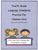 Bundled Set 4th Grade Language L4.2c - L4.5c Pract. Pgs. and Quizzes