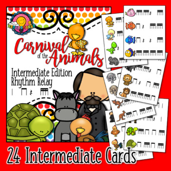 Bundled Set: Carnival of the Animals Saint-Saens Rhythm Relay & Trivia