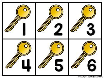 Bundled Set - Lock and Key Literacy & Math Center