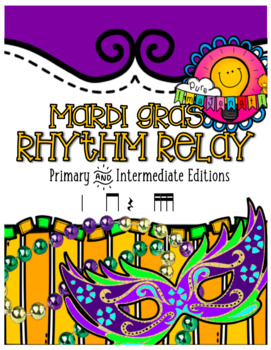 Bundled Set: Mardi Gras Rhythm Relay & Trivia
