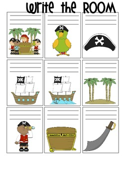 Bundled Set: Pirate, Circus and Clothing Write the Room Sets