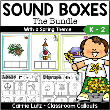 Bundled Sound Boxes ~Short Vowels, Magic e, Bossy R, Digraphs & Practice Pages