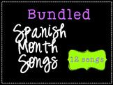 Bundled Spanish Monthly Songs {Canciones de los meses en español}