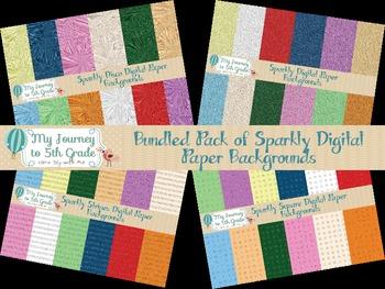 Bundled Sparkly Digital Paper Background