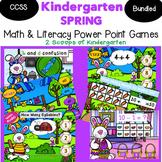 Bundled Spring Kindergarten Math & Literacy Power Point Games