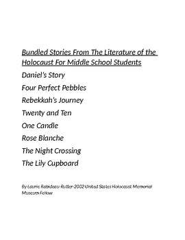 Bundled Stories from the Holocaust In Literature for Junio