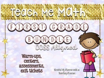 Bundled Teach Me Math Grade 1 Common Core Aligned