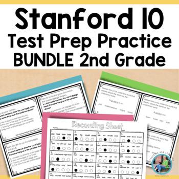 Bundled Test Prep {SAT-10} Task Cards