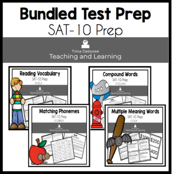 Bundled Test Prep {SAT-10} Task Cards