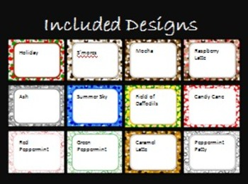 Bundled Themed Dots Task Card/Scoot Card Templates 12-Pack